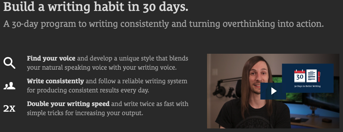 30 Days to Better Writing Notes